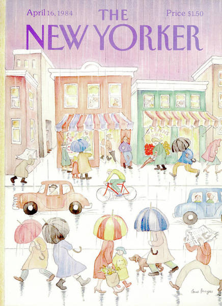 Skyscrapers Painting - New Yorker April 16th, 1984 by Anne Burgess