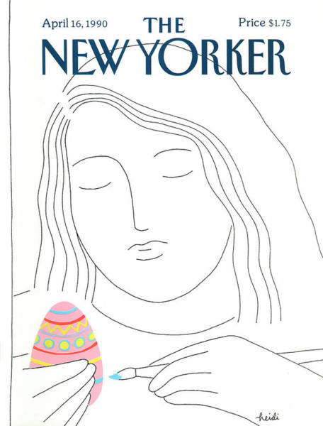 Drawing Painting - New Yorker April 16th, 1990 by Heidi Goennel