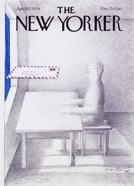 Service Painting - New Yorker April 17th 1978 by Andre Francois