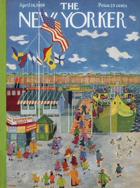 Ilonka Painting - New Yorker April 18th, 1959 by Ilonka Karasz