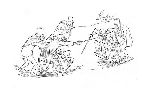 Elder Drawing - New Yorker April 1st, 1944 by Roberta Macdonald