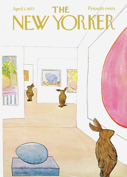 Sculpture Painting - New Yorker April 1st, 1972 by James Stevenson