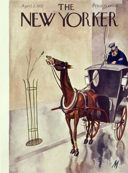 Transportation Painting - New Yorker April 2 1932 by Julian De Miskey