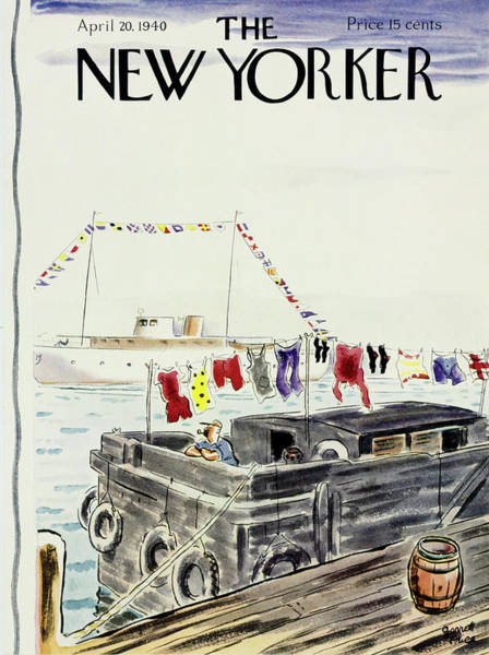 Adult Painting - New Yorker April 20 1940 by Garrett Price