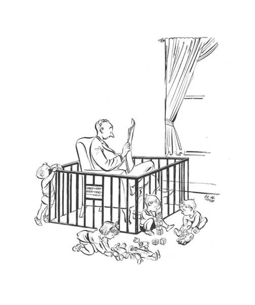 Gate Drawing - New Yorker April 20th, 1940 by Carl Rose