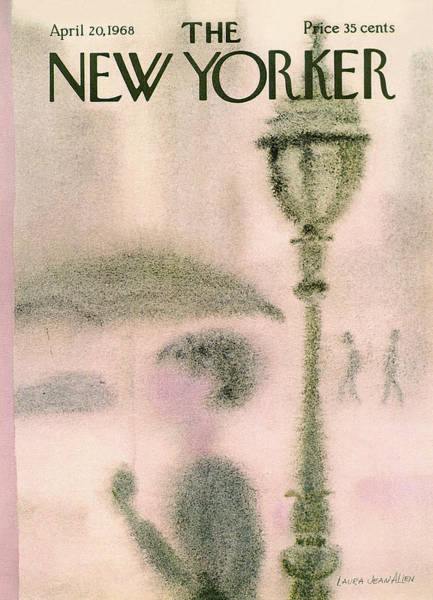 Light Painting - New Yorker April 20th, 1968 by Laura Jean Allen