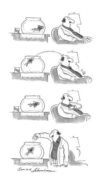 4 Drawing - New Yorker April 20th, 1987 by Bernard Schoenbaum