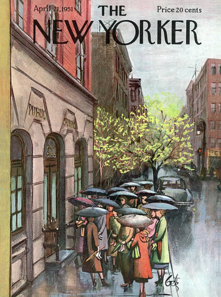 Bronx Painting - New Yorker April 21st, 1951 by Arthur Getz