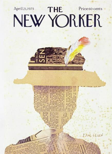 Headgear Painting - New Yorker April 21st 1975 by Paul Degen