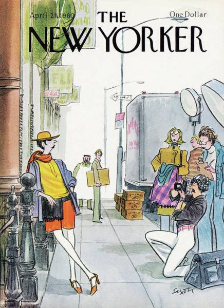 April 21st Painting - New Yorker April 21st, 1980 by Charles Saxon