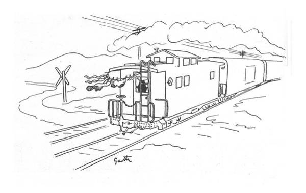 Dry Drawing - New Yorker April 22nd, 1944 by Garth Williams