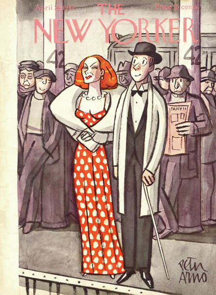 Formal Wear Painting - New Yorker April 24th, 1937 by Peter Arno