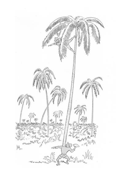 South Island Drawing - New Yorker April 24th, 1943 by Alfred Frueh