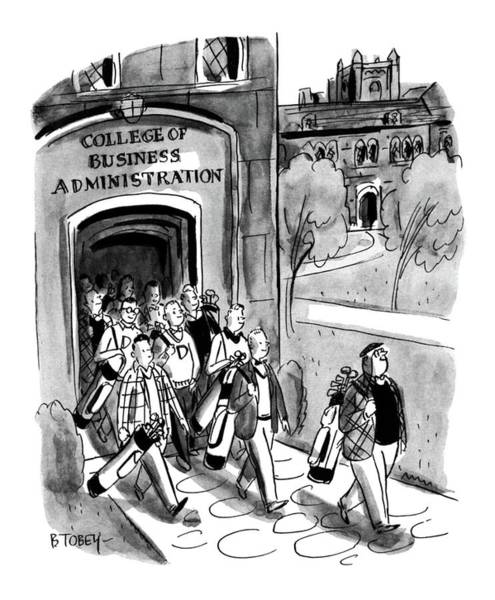 Wall Art - Drawing - New Yorker April 24th, 1954 by Barney Tobey