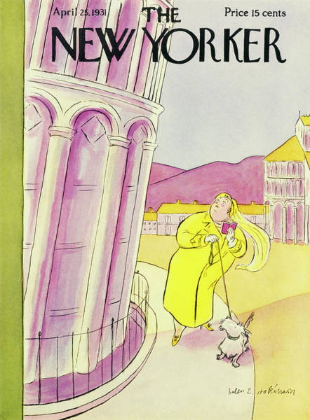 Pink Painting - New Yorker April 25 1931 by Helene E. Hokinson
