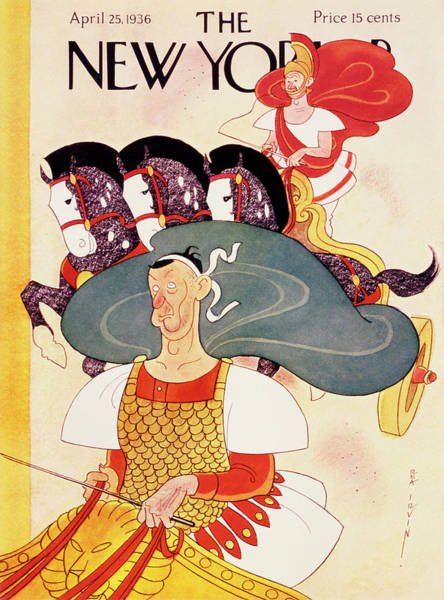 Adult Painting - New Yorker April 25 1936 by Rea Irvin