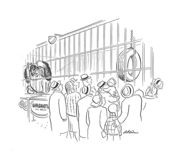 Zoo Animals Drawing - New Yorker April 25th, 1942 by  Alain
