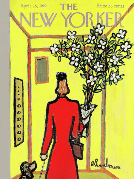 Flower Painting - New Yorker April 25th, 1959 by Abe Birnbaum