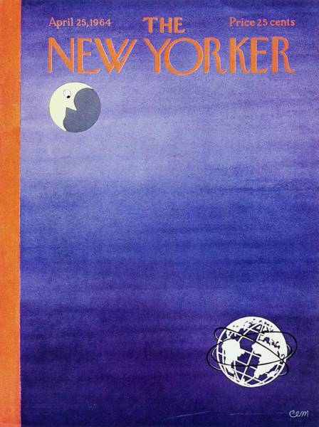 At Night Painting - New Yorker April 25th 1964 by Charles Martin