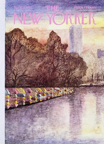 Stacks Painting - New Yorker April 25th 1977 by Charles Martin