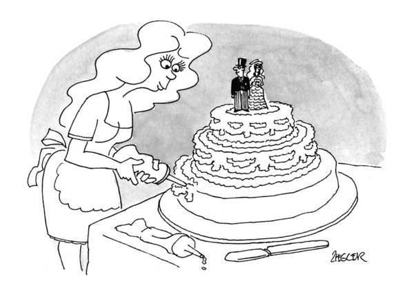 Groom Drawing - New Yorker April 25th, 1994 by Jack Ziegler