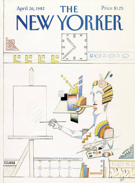Drawing Painting - New Yorker April 26th, 1982 by Saul Steinberg
