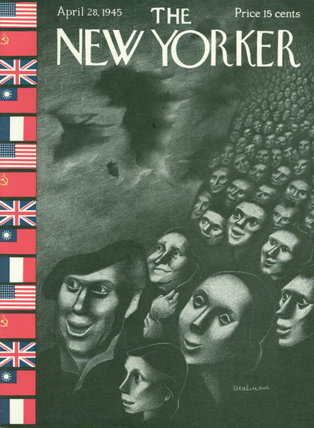 Ghosts Painting - New Yorker April 28th, 1945 by Christina Malman