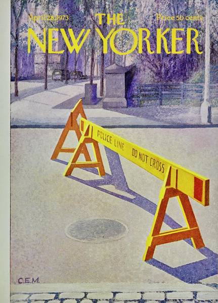 America Painting - New Yorker April 28th 1973 by Charles Martin