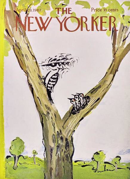 Wall Art - Painting - New Yorker April 29th 1967 by Aaron Birnbaum