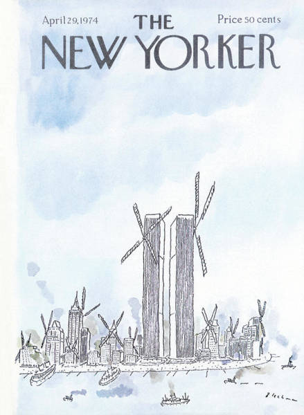 Skyline Painting - New Yorker April 29th, 1974 by RO Blechman