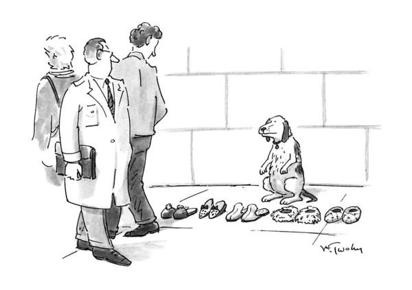 Pet Store Drawing - New Yorker April 29th, 1991 by Mike Twohy