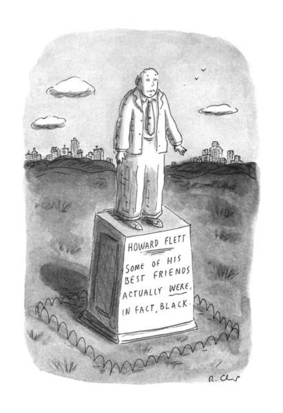 African American Drawing - New Yorker April 29th, 1996 by Roz Chast