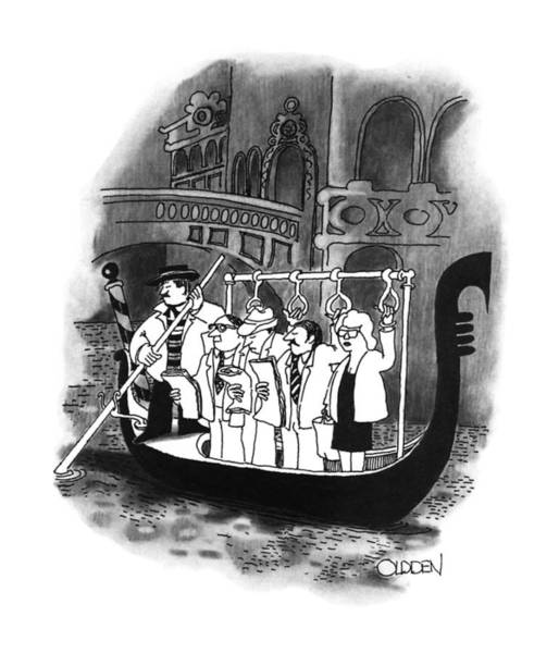 Italy Drawing - New Yorker April 2nd, 1990 by Richard Oldden
