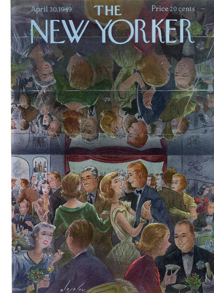 Drunk Painting - New Yorker April 30th, 1949 by Constantin Alajalov