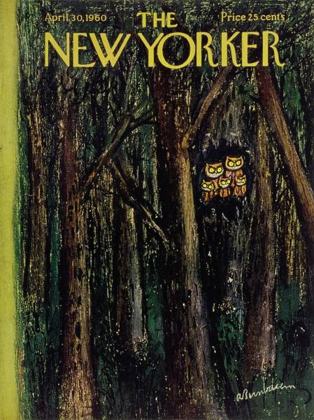 At Night Painting - New Yorker April 30th 1960 by Aaron Birnbaum