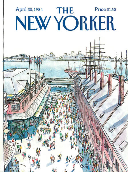 Crowd Painting - New Yorker April 30th, 1984 by Arthur Getz