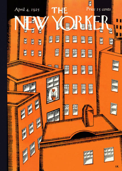 Magazine Painting - New Yorker April 4 1925 by Ilonka Karasz