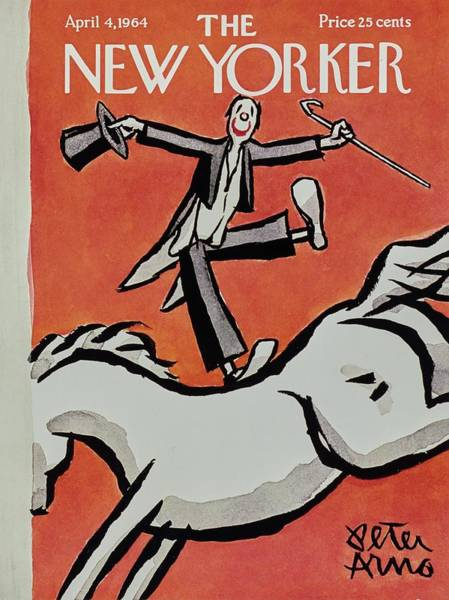 Performer Painting - New Yorker April 4th 1964 by Peter Arno