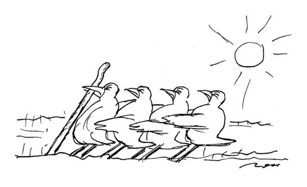 Row Drawing - New Yorker April 4th, 1994 by Al Ross