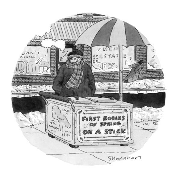 Fast Food Wall Art - Drawing - New Yorker April 4th, 1994 by Danny Shanahan