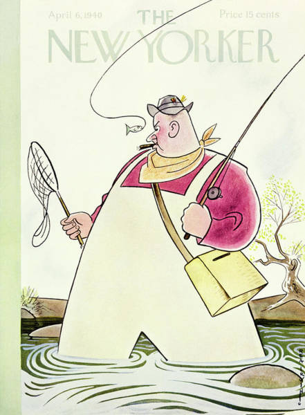 6 Painting - New Yorker April 6 1940 by Rea Irvin