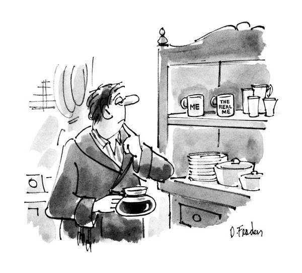 Drink Drawing - New Yorker April 6th, 1987 by Dana Fradon