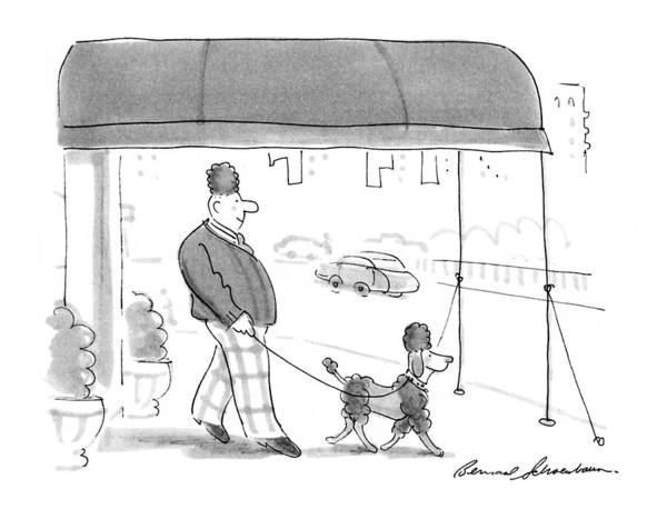 April 6th Drawing - New Yorker April 6th, 1992 by Bernard Schoenbaum