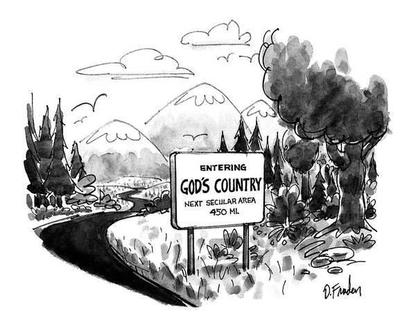 April 6th Drawing - New Yorker April 6th, 1992 by Dana Fradon