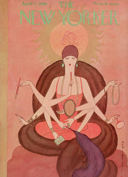 Buddhism Wall Art - Painting - New Yorker April 7th, 1928 by Rea Irvin