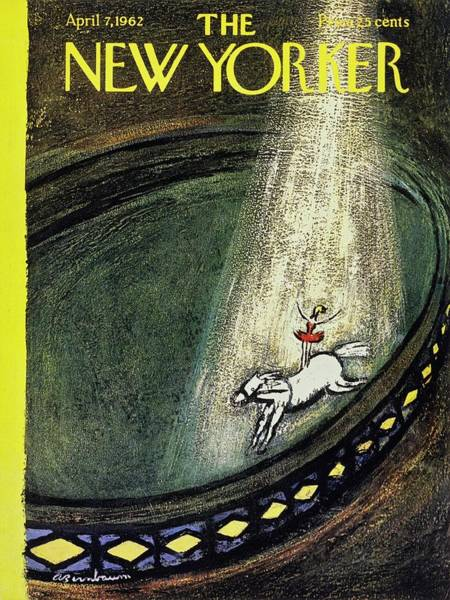 Performer Painting - New Yorker April 7th 1962 by Aaron Birnbaum