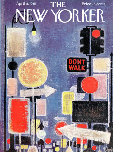 News Painting - New Yorker April 8th, 1961 by Kenneth Mahood