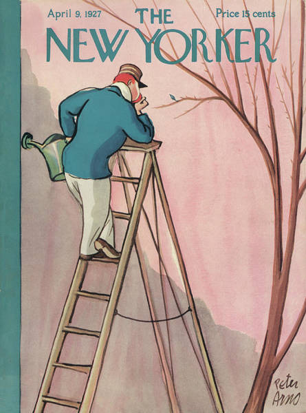 Gardening Painting - New Yorker April 9th, 1927 by Peter Arno