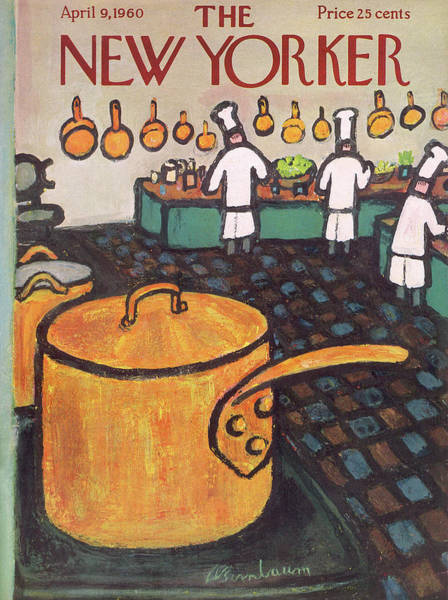 Restaurant Painting - New Yorker April 9th, 1960 by Abe Birnbaum
