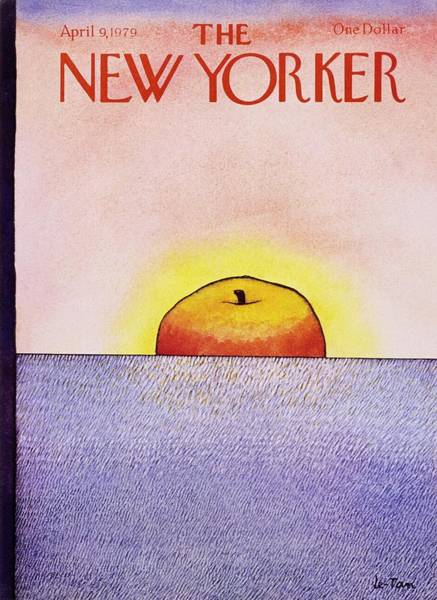 Copy Painting - New Yorker April 9th 1979 by Pierre Le-Tan
